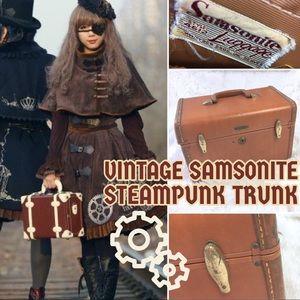 Vintage Mid Century Samsonite Steampunk Train Case
